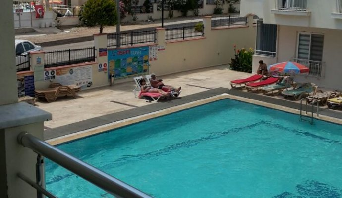 Poolside Apartment in the Safe Complex in Didim