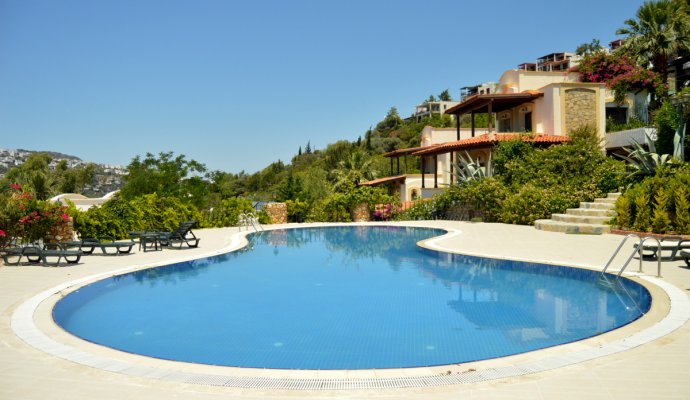 Bodrum Gündoğan 3 + 1 Beachfront Duplex with Shared Pool.
