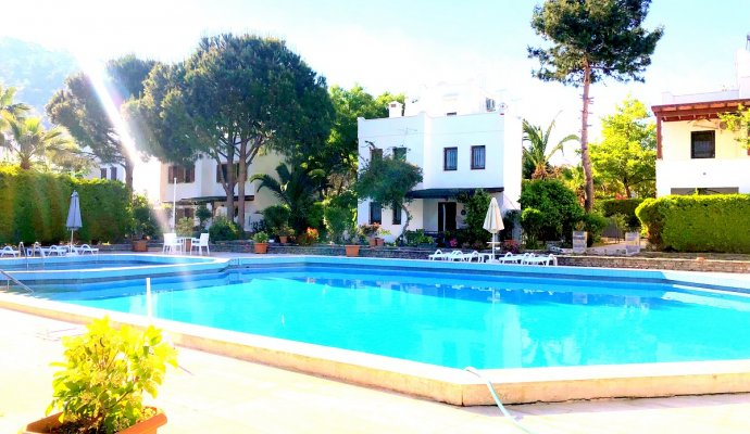Bodrum Torba Duplex Villa with Shared Pool in Compound