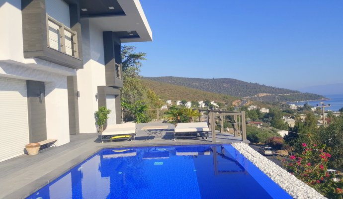 Bodrum Torba 3 + 1 Sea View Villa With Private Pool