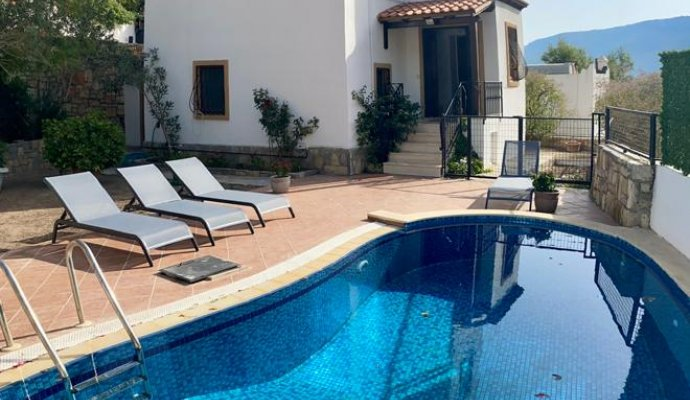 Sea View Villa with Private Pool in Bodrum Torba